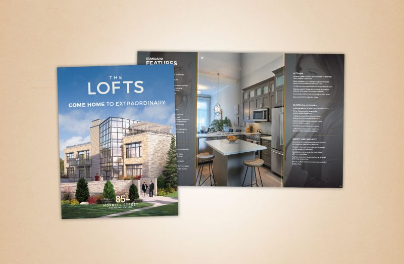 The Lofts marketing materials