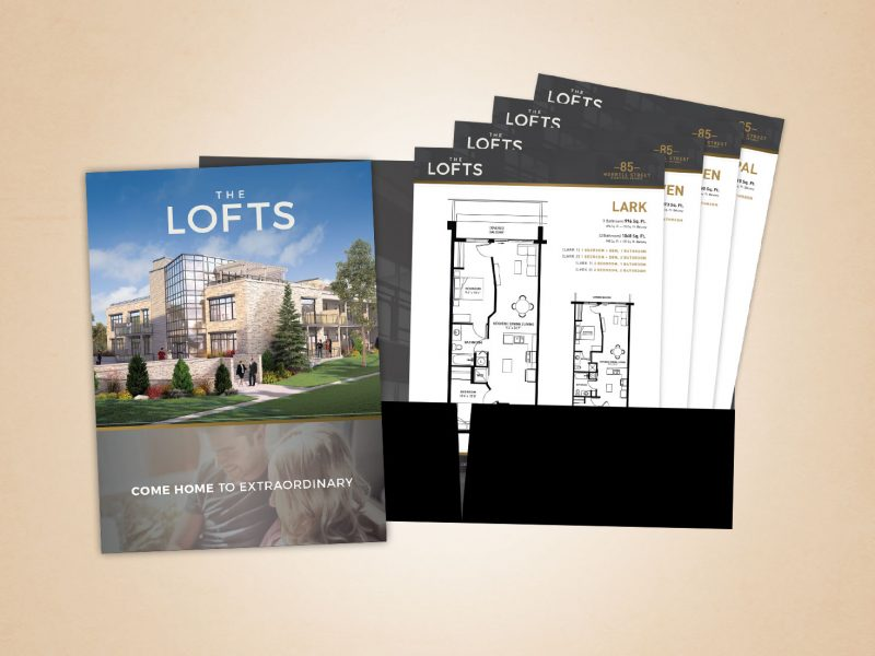 The Lofts hand out folder
