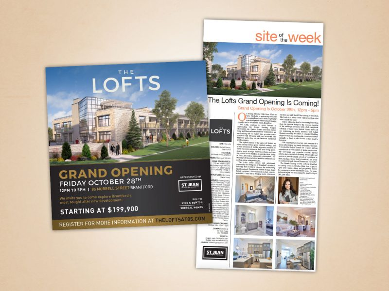 The Lofts advertising