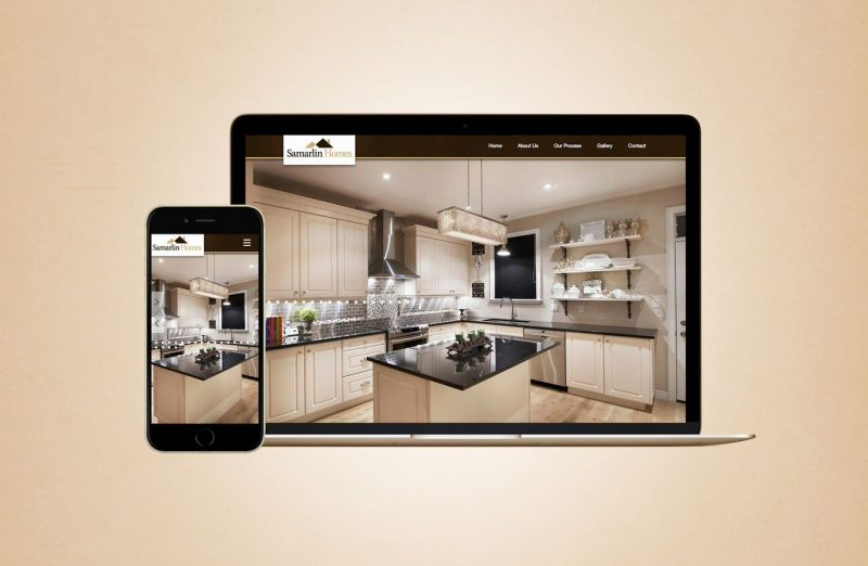 Samarlin Homes web design
