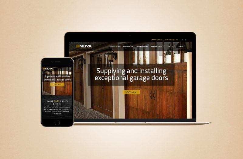 Nova Garage Doors website redesign