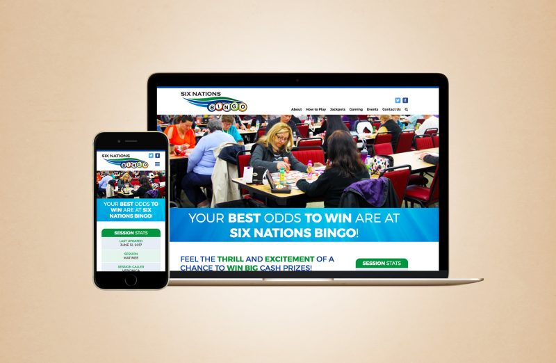 Six Nations bingo website redesign