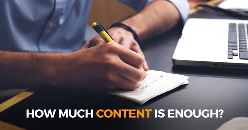 How Much Content Is Enough?