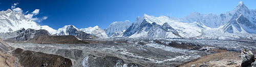 Panorama from outcrop on Chhukung Ri