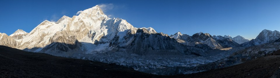Late afternoon Khumbu Glacier panorama