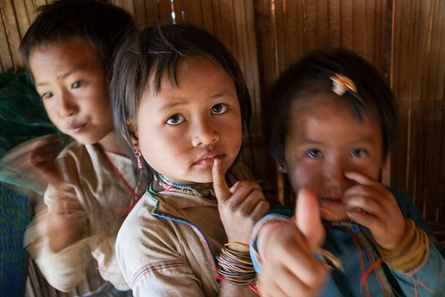 Lahu hill tribe children