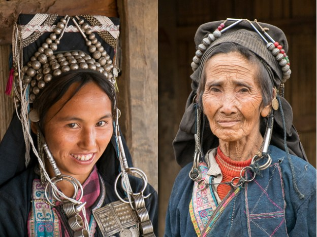 Akha women, young and old.