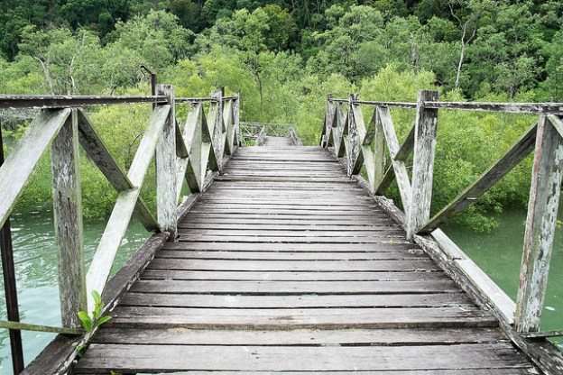 Boardwalk at the entrance to Bako National Park