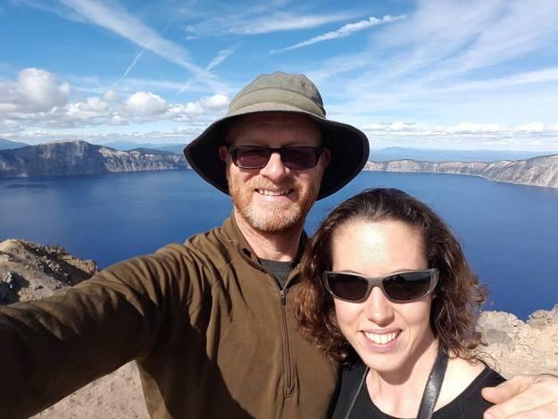 Crater Lake selfie