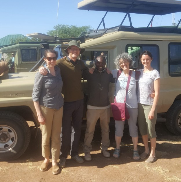 Group shot with Eddie at Grumeti airstrip