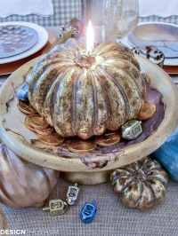 Gourd Crafts: Elegant Inexpensive Thanksgiving Table ...