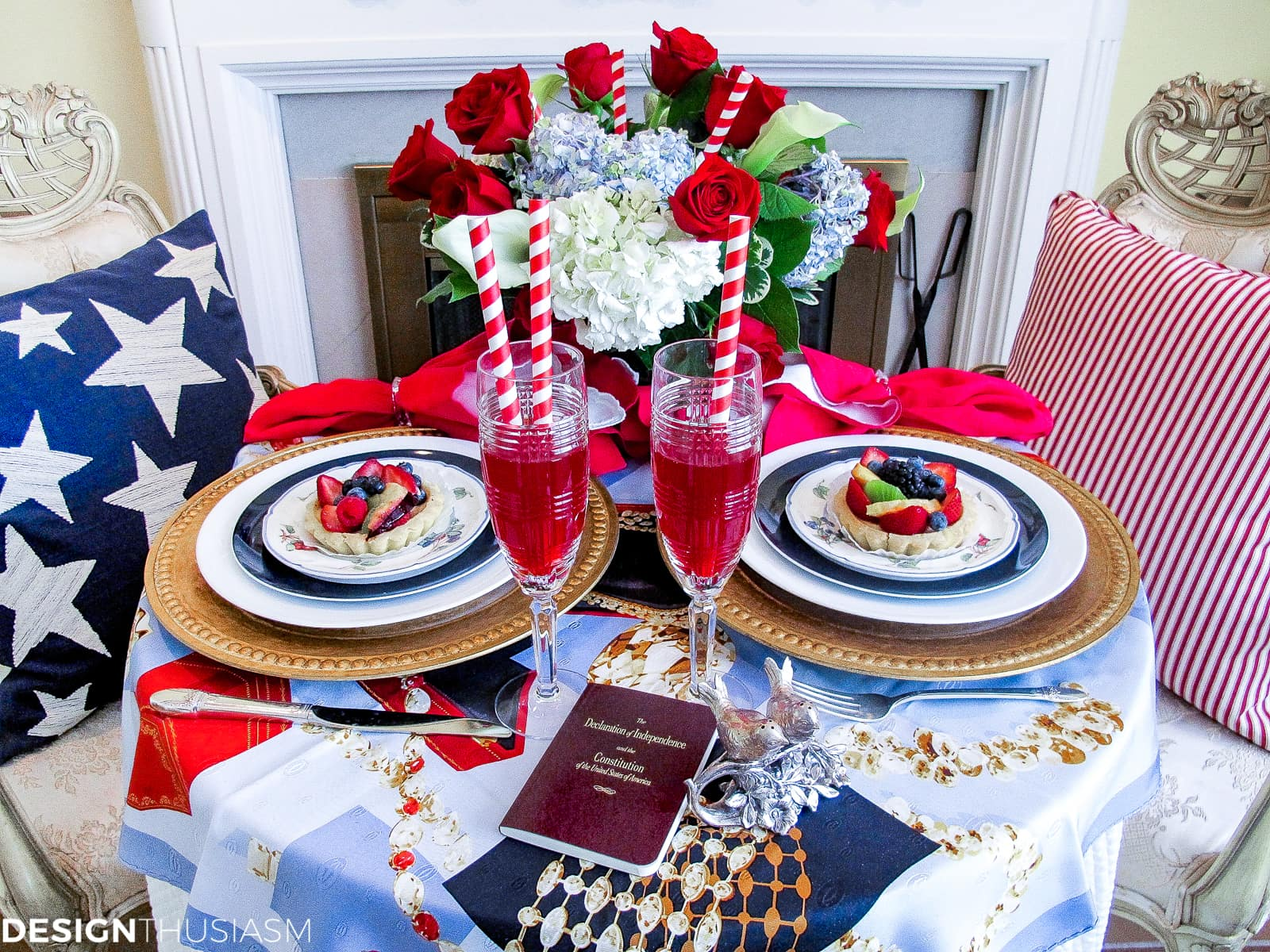 Patriotic Decorations Elegant Fourth Of July Table Decor