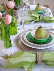 Elegant St. Patrick' Day Tablescape