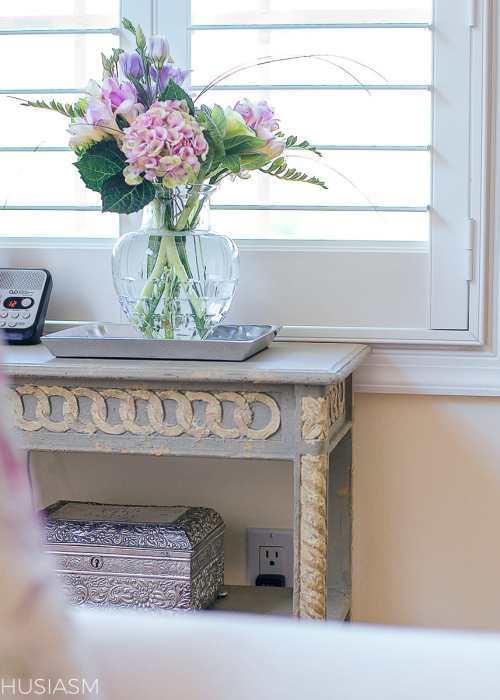 small accent table with french country style