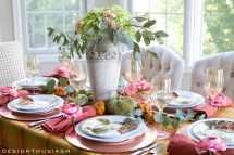 Autumn Color In Fall Tablescape Seasonal Hop