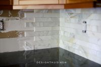Calcatta Gold Marble Backsplash | ORC Kitchen Renovation