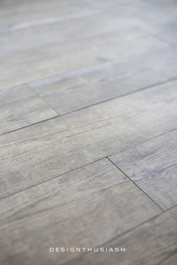 Faux Wood Tile for the New Kitchen Floor | Designthusiasm.com