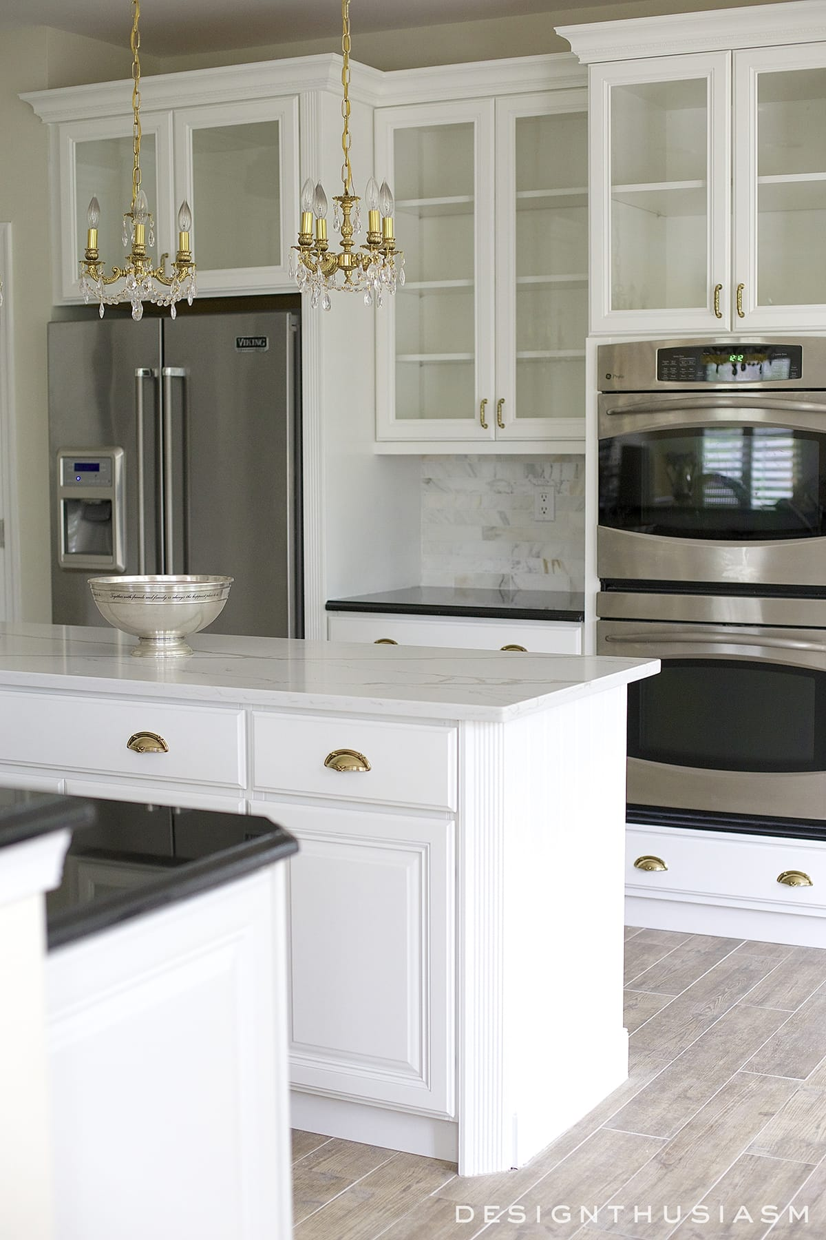 sm kitchen appliances metal frame outdoor white painted cabinets simplify a renovation