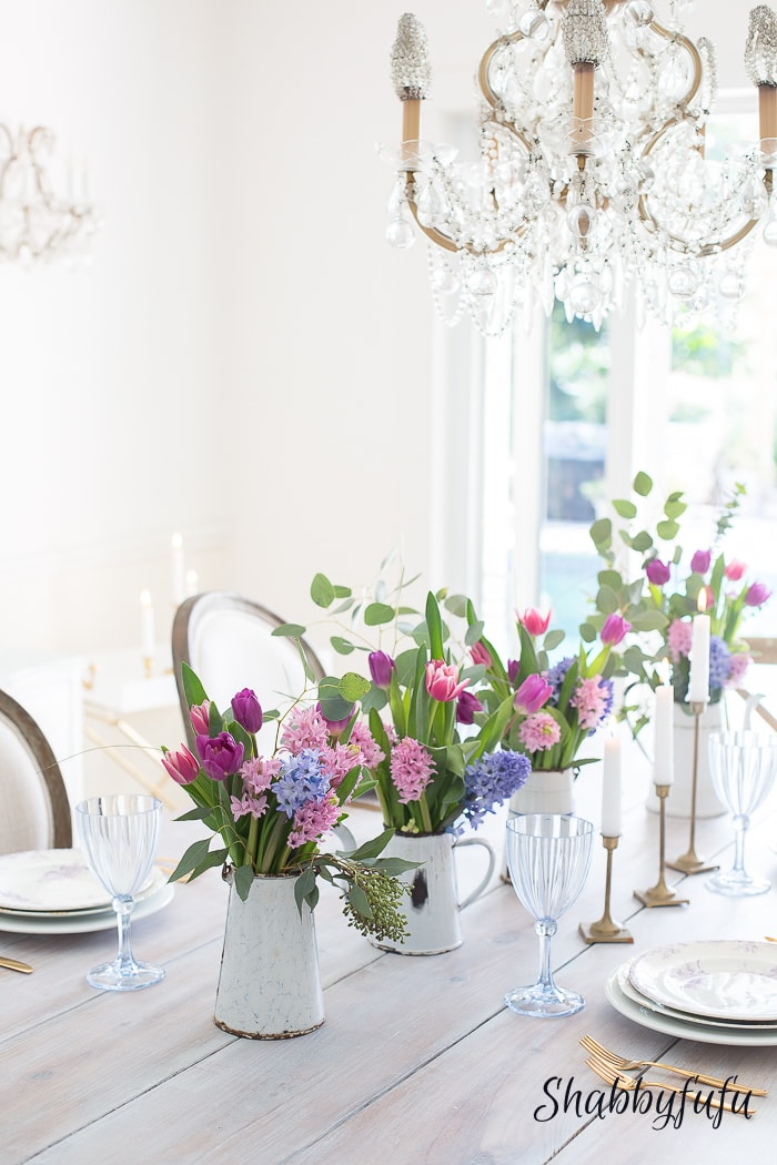 spring 2017 dining room hyacinths tulips romantic style-8