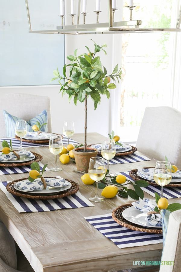 Summer Table Setting Entertaining - Town & Country Living