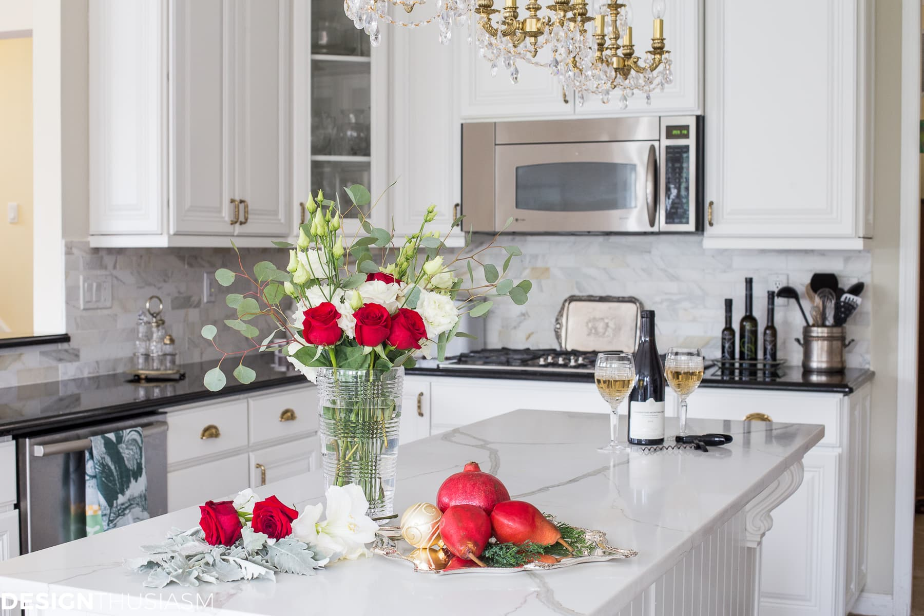 Christmas Kitchen Decor with French Country Elegance