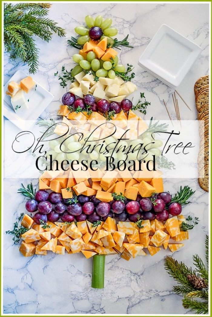 Oh, CHRISTMAS TREE CHEESE BOARD-title page-stonegableblog