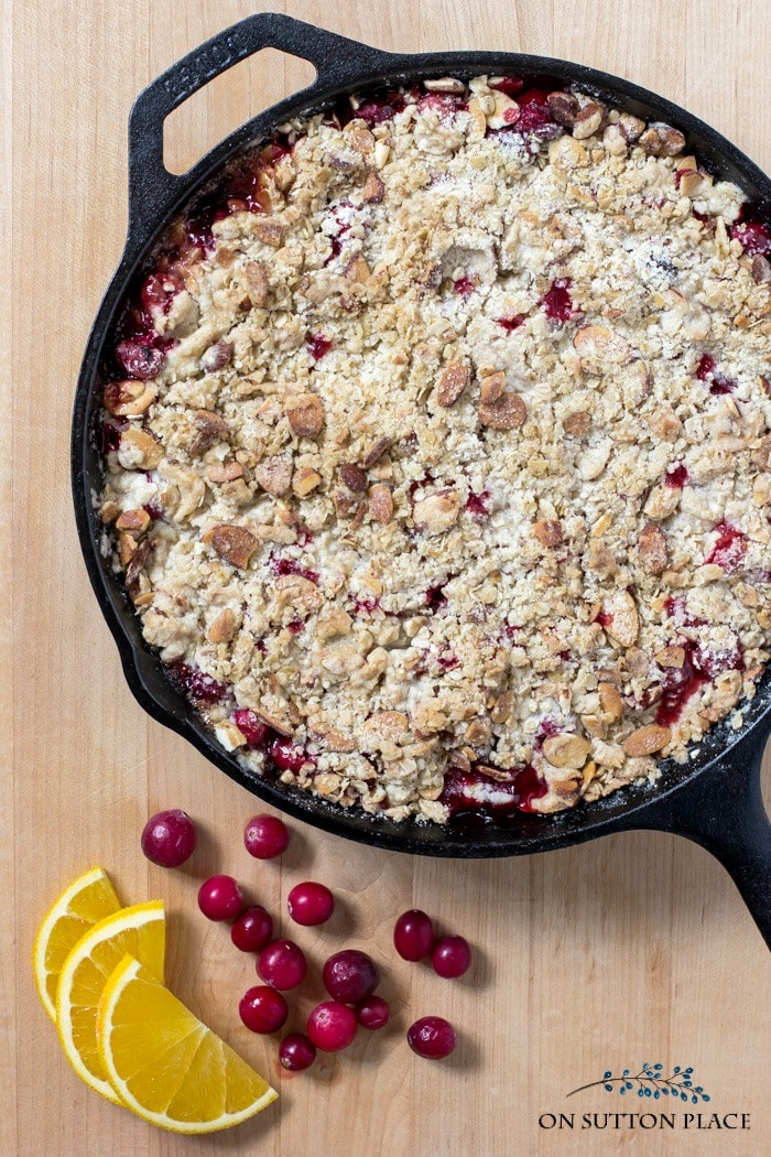 cranberry crumble on sutton place