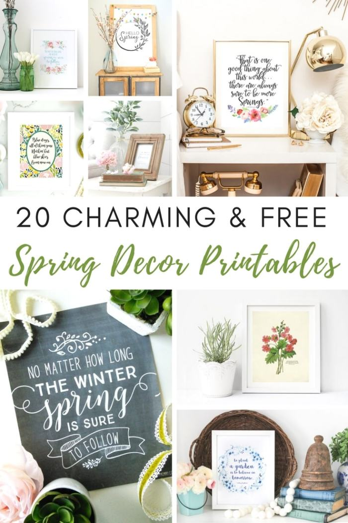 Free-Spring-Decor-Printables