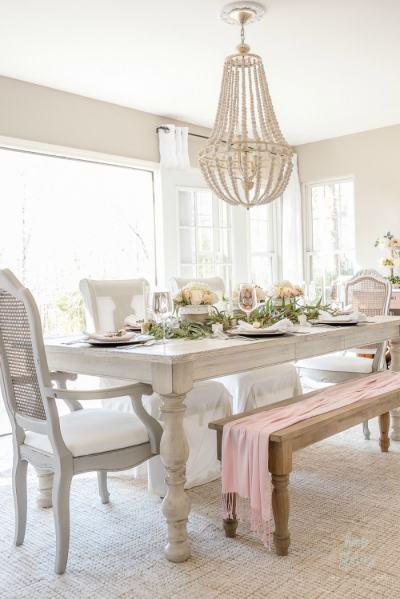 spring dining room blush and white-homestoriesatoz