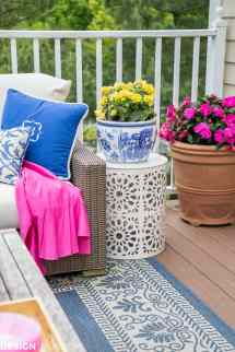 Outdoor Living Spaces Updating Patio With Summer Color