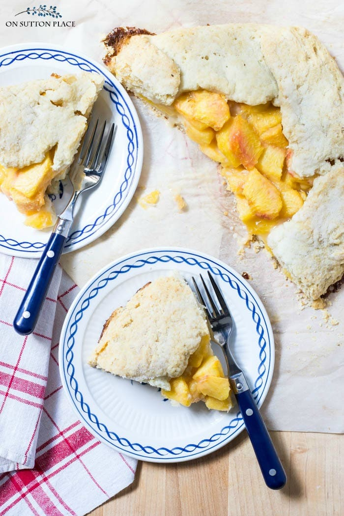 Rustic Peach Tart Recipe from On Sutton Place