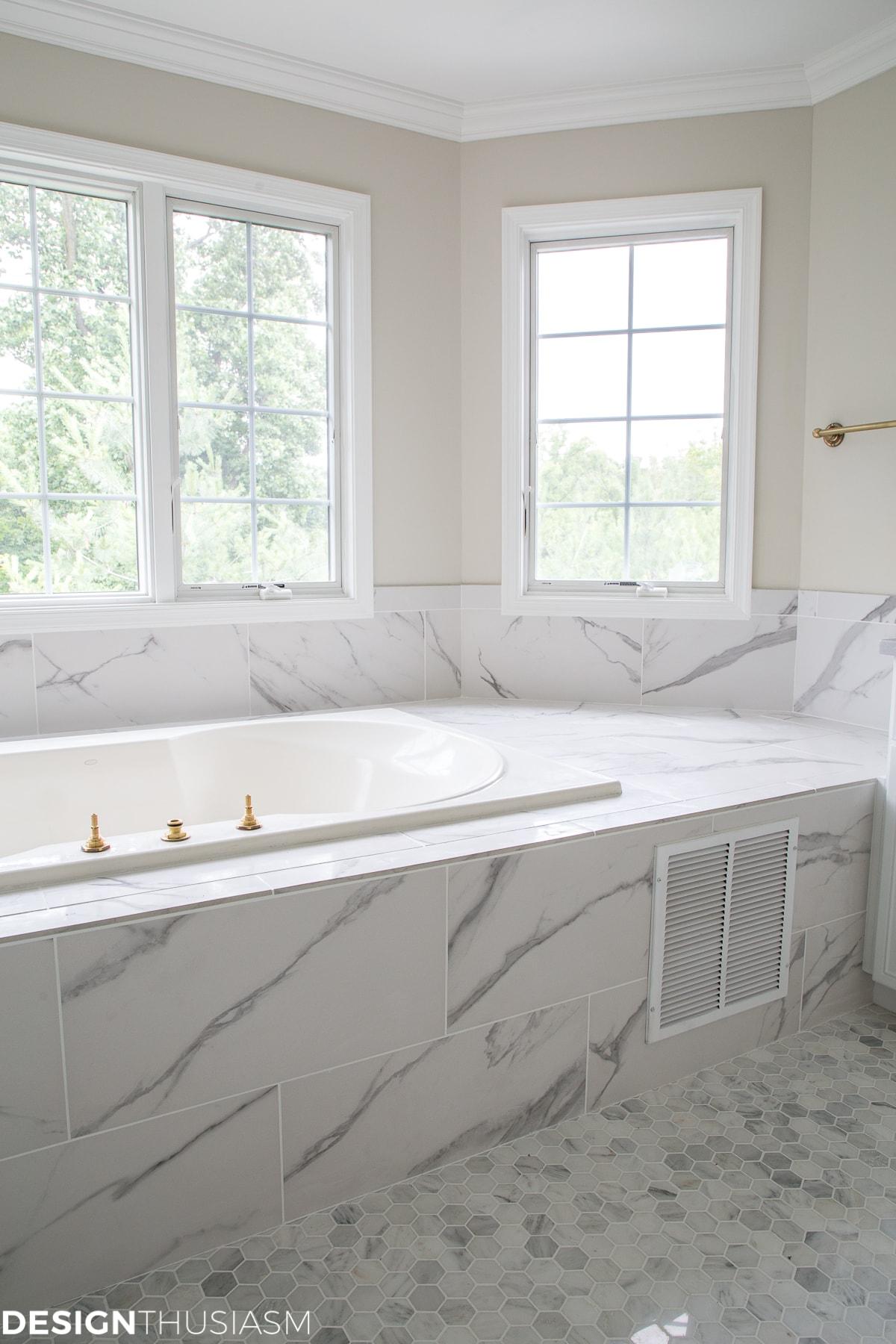 using bathroom tiles to transform a