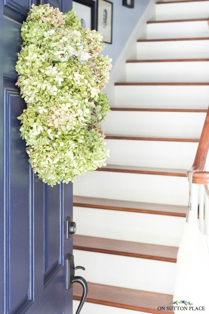 Dried Hydrangea Wreath from On Sutton Place