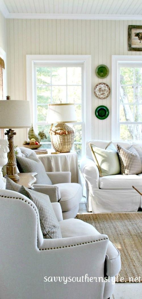 savvy southern style fall sun room