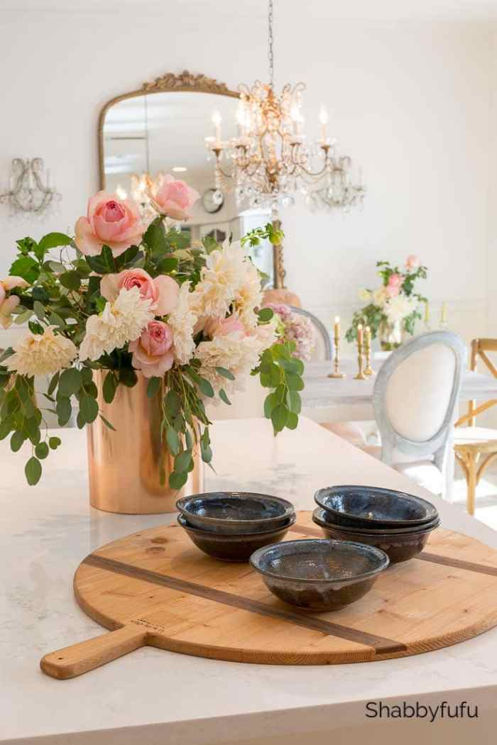 pottery and flower fall home tour