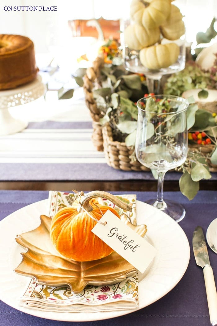 Jewel Tone Thanksgiving Tablescape from On Sutton Place