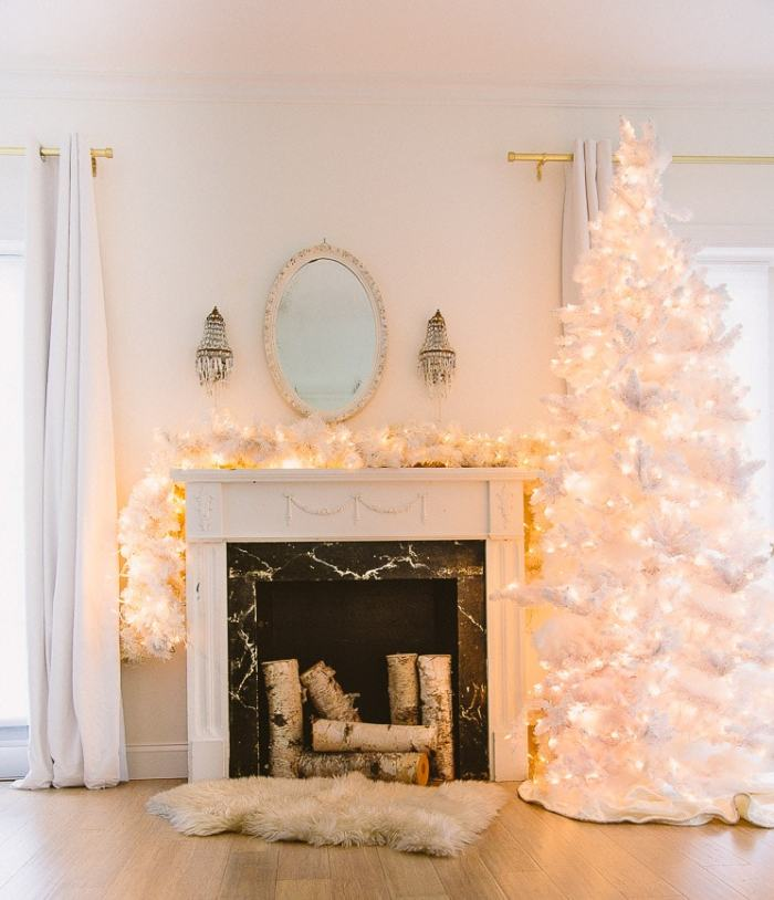 White Christmas Tree Shabbyfufu