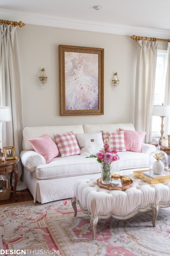 glam decor home style living room