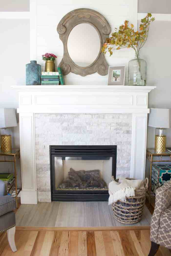 Fall Fireplace Decorating and House Tour - The Inspired Room