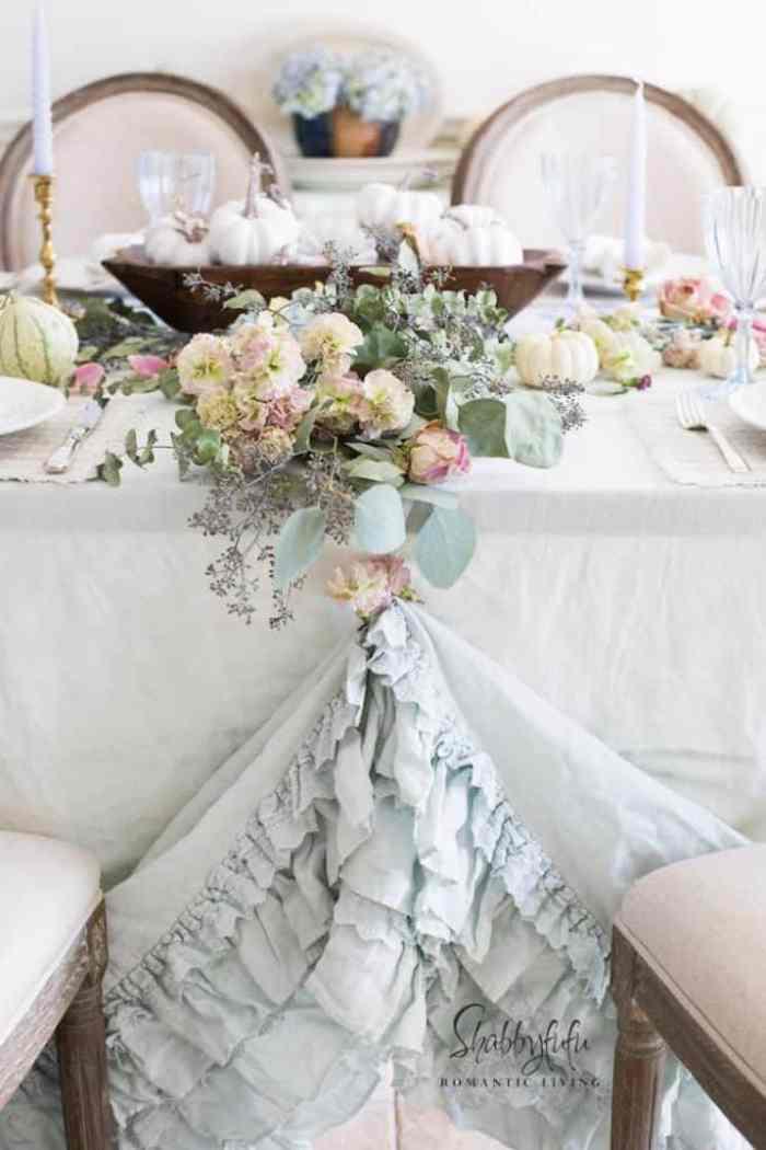Fall Pastel Table Setting Shabbyfufu