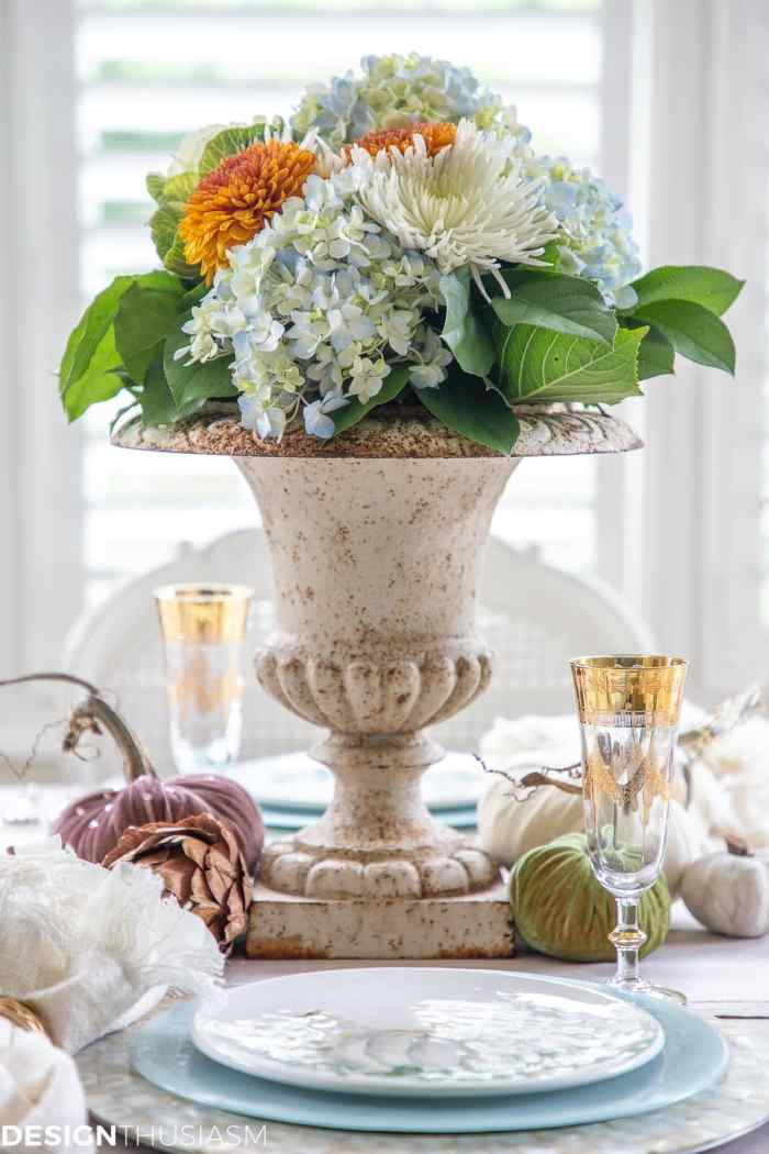 soft fall table decor centerpiece