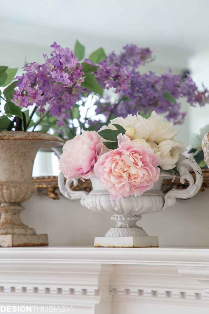 spring decor garden urns