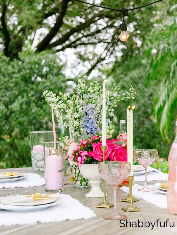 Tips For A Spring Table With Grocery Store Flowers