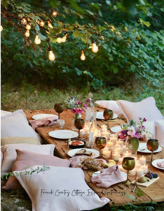 Bohemian table under tree