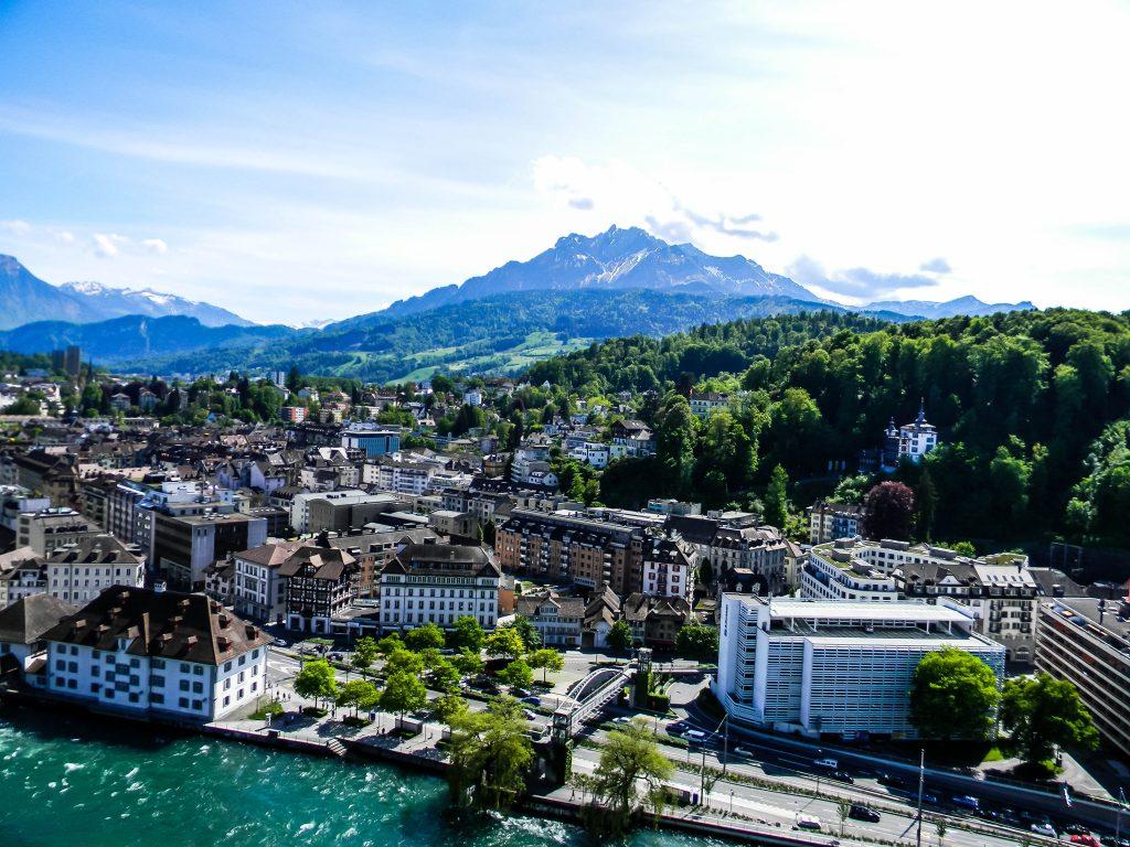 Scenic view of Lucerne Switzerland