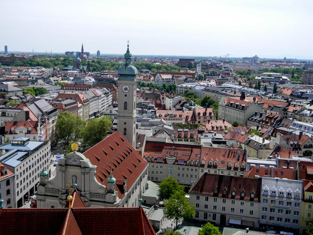 View from - St. Peters's Church - Munich, Germany