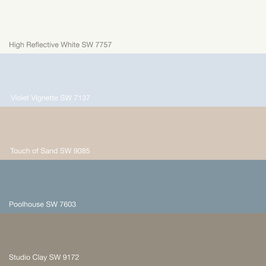 Sherwin Williams Paint Colors - Touch of Sand 9085, High Reflective White