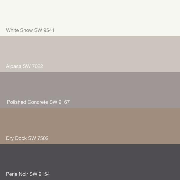 Sherwin Williams Paint Palette - Perle Noir SW 9154