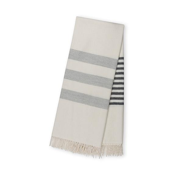 White and Grey Throw Blanket