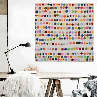 Art by Dina D - Abstract Colorful Dots - Acrylic Painting - Art by Dina D